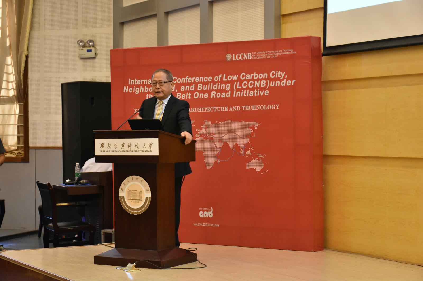 文本框:   大会主席刘加平院士主持开幕式